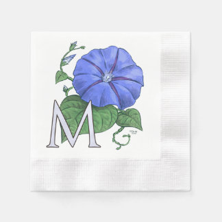 floral,flower,monogram,alphabet,classic,traditiona coined cocktail napkin