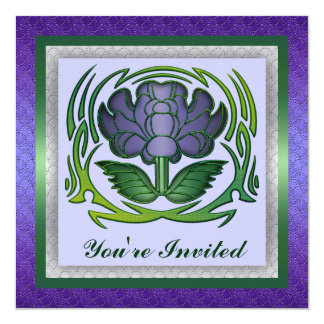 Floral Flower Party Invitation