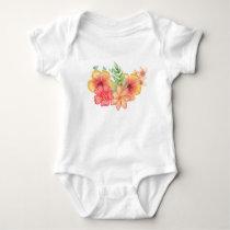 floral flower pattern baby bodysuit