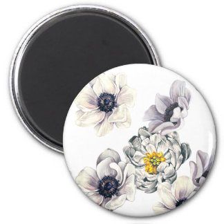 Floral Flower Peony Anemone Fresh Spring Artistic Magnet