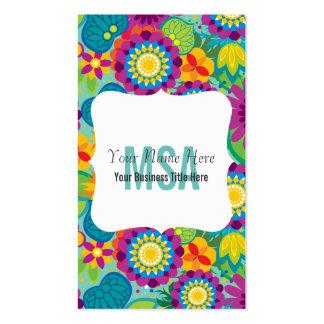 Floral Flower Power Salon Colorful Blooms Business Card