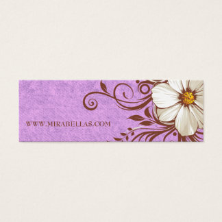 Floral Flower Price Gift Tag Vintage Birthday Mini Business Card