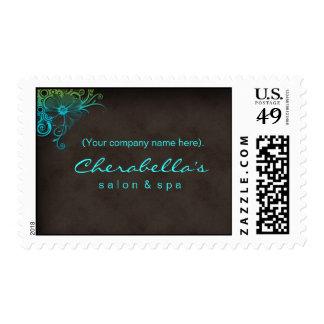 Floral Flower Salon Spa Postage Sticker Stamp