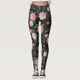 Floral Flower Vintage Pattern Women's Leggings