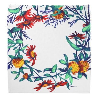 Floral Flower Wreath Plants Botanical Horticulture Bandana