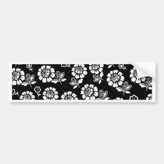 Floral Flowers Art Artistic Beautiful fine style f Bumper Sticker