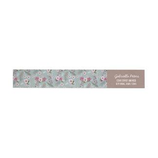 Floral Flowers Christmas berry   Wrap around label Wraparound Return Address Label