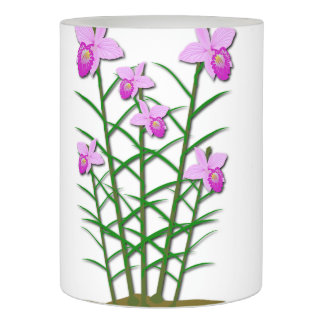 Floral Flowers Custom Personalize Anniversaries Flameless Candle