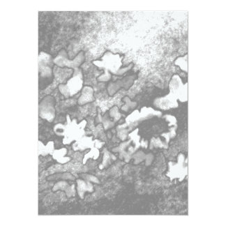 Floral Flowers Grey White Elegant Pretty Card