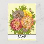 [ Thumbnail: Floral / Flowers RSVP Postcard ]