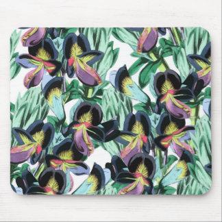 Floral Flutter Mouse Pad