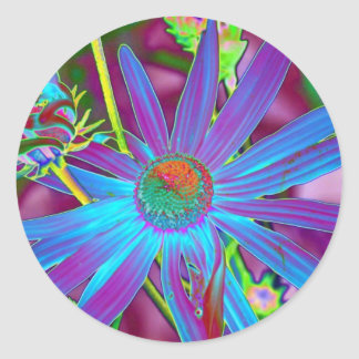 Floral Foil Classic Round Sticker