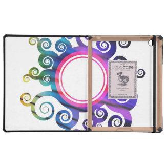 Floral Foliage Circular Border Covers For iPad