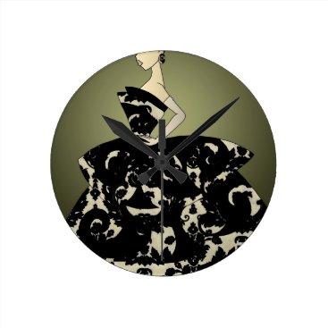 jasmineflynn Floral Formal Round Clock