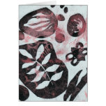 Floral Fossils Abstract Monoprint Greeting Card