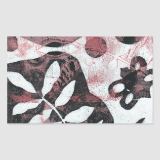 Floral Fossils Abstract Monoprint Sticker