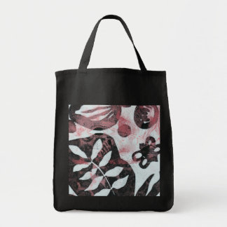 Floral Fossils Abstract Monoprint Tote Bag