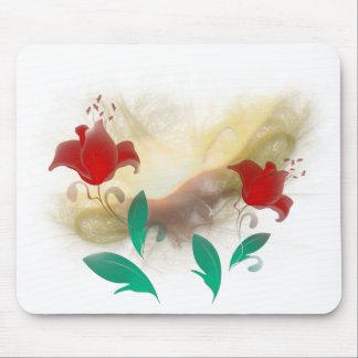 Floral Frac Mouse Pad