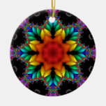 Floral Fractal Christmas Tree Ornaments