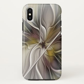 Floral Fractal, Fantasy Flower with Earth Colors Case-Mate iPhone Case