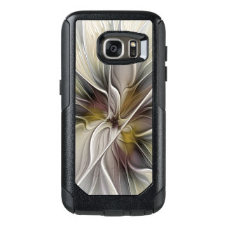 Floral Fractal, Fantasy Flower with Earth Colors OtterBox Samsung Galaxy S7 Case