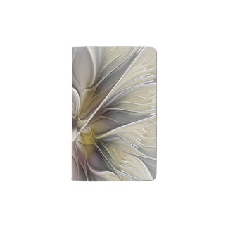 Floral Fractal, Fantasy Flower with Earth Colors Pocket Moleskine Notebook