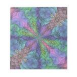 Floral Fractal Kaleidoscope Design Note Pad
