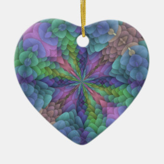 Floral Fractal Kaleidoscope Design Christmas Tree Ornament