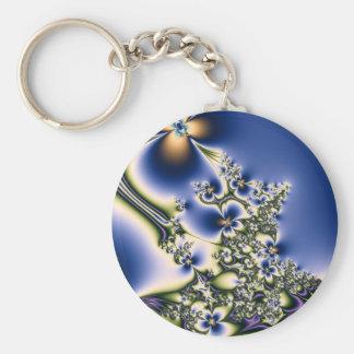 Floral Fractal Keychain