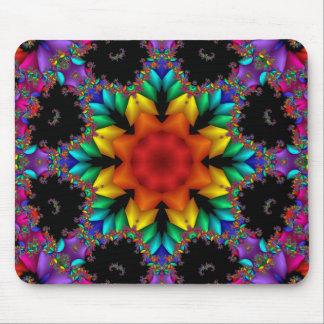 Floral Fractal Mouse Pad