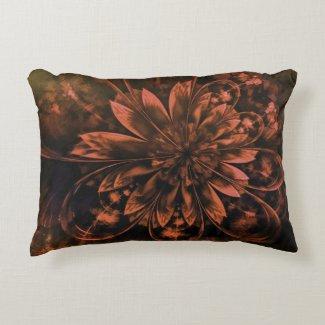 Floral Fractals Accent Pillow
