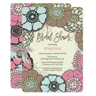 Floral Frame Bridal Shower Card