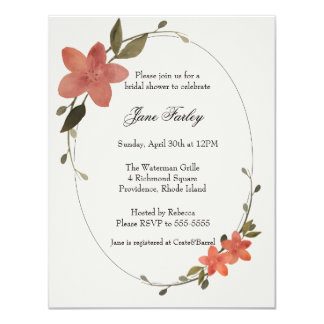 Floral Frame Invitation