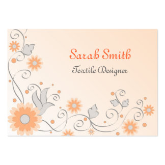 Floral frame large business cards (Pack of 100)