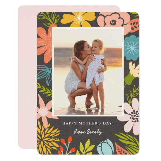 Floral Frame Mother's Day Photo Card