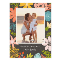 Floral Frame Mother's Day Postcard