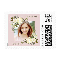 Floral Frame   Photo Class of 2018 Graduation Postage