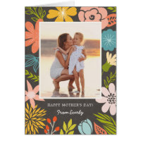 Floral Frame Photo Mother's Day Card
