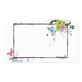 Floral frame Profile Card Double-Sided Standard Business Cards (Pack Of 100)