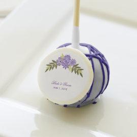 Floral Frame Purple Wedding Cake Pops