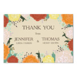 Floral frame Wedding Thank you Card .