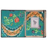 Floral francés colorido decorativo del vintage iPad cobertura