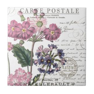floral francés del vintage moderno teja  ceramica