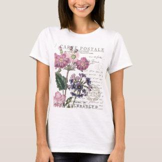 floral francés del vintage moderno playera
