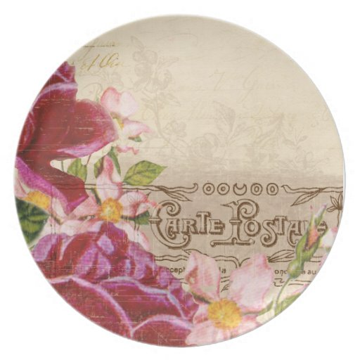 Floral French Plate