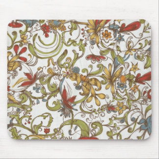 Floral Frenzy Springtime Mouse Pad