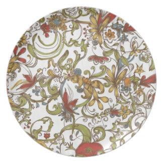 Floral Frenzy Springtime Plates