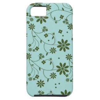 Floral fresco y de lujo - azul (2) iPhone 5 protector