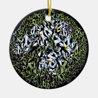 Floral Frezy Products. Ceramic Ornament