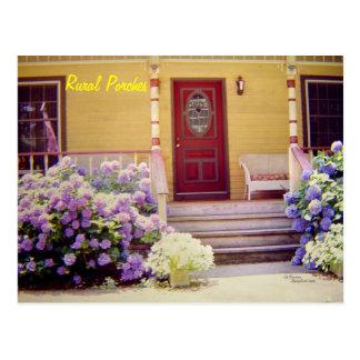 Floral front porch Postcard